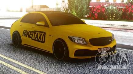 Mercedes-Benz C63 FAKE TAXI für GTA San Andreas