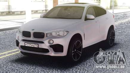 BMW X6M White Original für GTA San Andreas