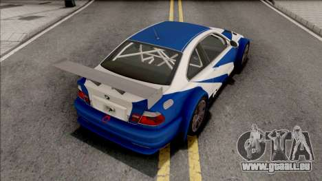 BMW M3 GTR NFS Most Wanted pour GTA San Andreas