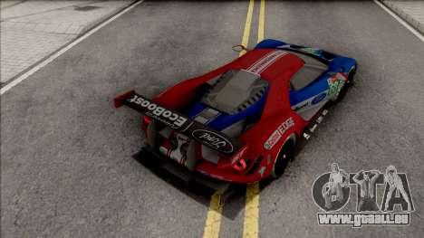 Ford GT 2019 Le Mans für GTA San Andreas
