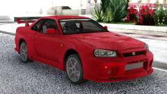 Nissan Skyline GT-R R34 V-Spec II Red Coupe pour GTA San Andreas