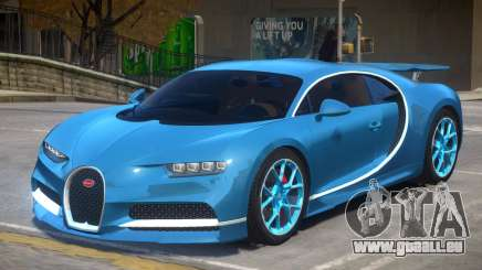 2017 Bugatti Chiron wheel blue pour GTA 4
