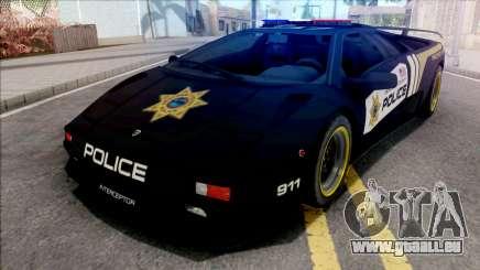 Lamborghini Diablo SV Police NFS Hot Pursuit für GTA San Andreas