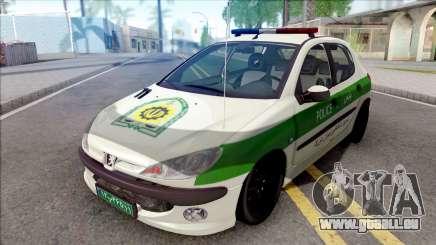 Peugeot 206 Iranian Police für GTA San Andreas