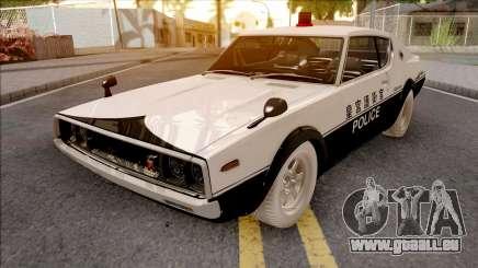 Nissan Skyline GT-R KPGC110 Police Japan pour GTA San Andreas