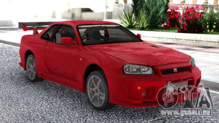 Nissan Skyline GT-R R34 V-Spec II Red Coupe für GTA San Andreas