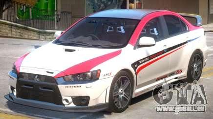 Mitsubishi Lancer Evo X PJ4 pour GTA 4