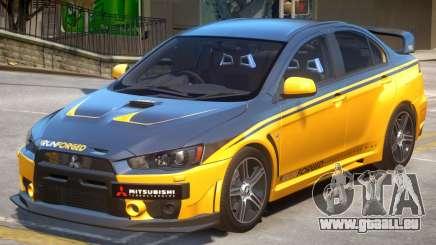 Mitsubishi Lancer Evo X PJ3 pour GTA 4