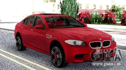 BMW M5 F10 Red Sedan für GTA San Andreas