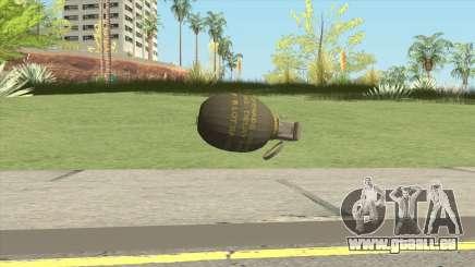 Grenade From GTA V für GTA San Andreas
