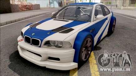 BMW M3 GTR NFS Most Wanted für GTA San Andreas