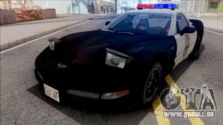 Chevrolet Corvette 1999 Hometown Police pour GTA San Andreas