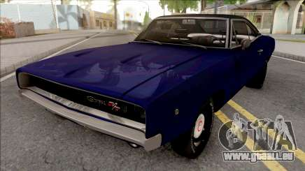 Dodge Charger 1968 Blue für GTA San Andreas