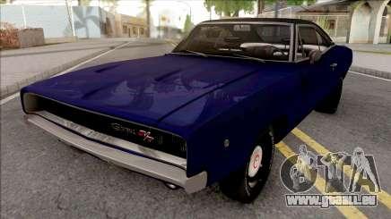 Dodge Charger 1968 Blue pour GTA San Andreas
