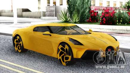 Bugatti La Voiture Noire 2019 Yellow Coupe pour GTA San Andreas