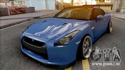 Nissan GT-R Spec V Stance Blue für GTA San Andreas