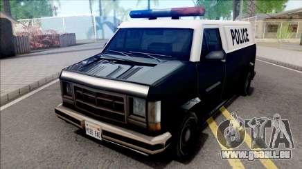 Declasse Burrito Police Van pour GTA San Andreas