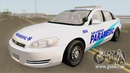 Chevrolet Impala 2012 (San Andreas Ambulance) pour GTA San Andreas