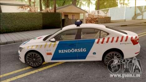 Skoda Superb Magyar Rendorseg pour GTA San Andreas