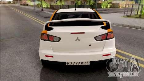 Mitsubishi Lancer Evolution 10 Yandex Drive für GTA San Andreas