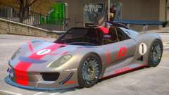 Porsche 918 Roadster PJ2 pour GTA 4