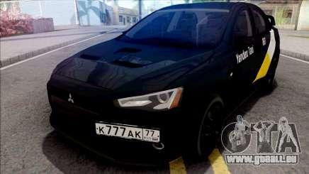 Mitsubishi Lancer Evolution 10 Yandex Taxi v3 pour GTA San Andreas
