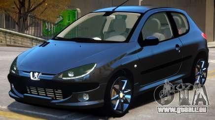 Peugeot 206 V1.1 pour GTA 4