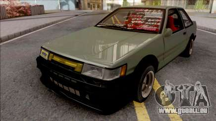 Toyota AE86 Levin Coupe Vision TopTeen pour GTA San Andreas