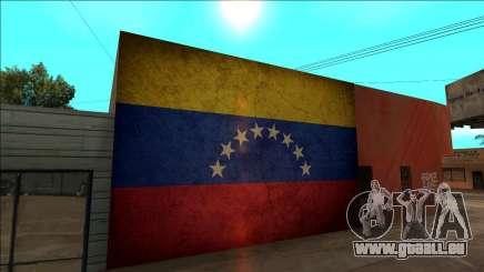 Venezuela drapeau sur le mur pour GTA San Andreas