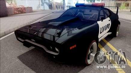 Plymouth GTX 1972 Custom Police LVPD für GTA San Andreas