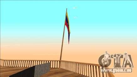 Venezuela-Flagge auf dem mount čilliad für GTA San Andreas