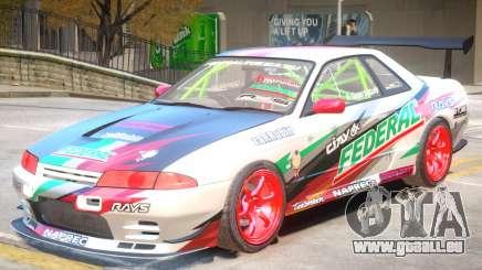 Nissan Skyline GT-R R32 V1 PJ für GTA 4