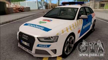Audi RS4 Avant Magyar Rendorseg Updated Version pour GTA San Andreas