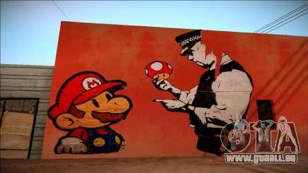 Mario Bros Wall HD für GTA San Andreas