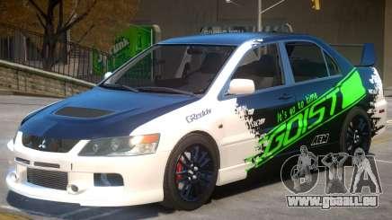 Mitsubishi Lancer Evolution IX V1.1 PJ pour GTA 4