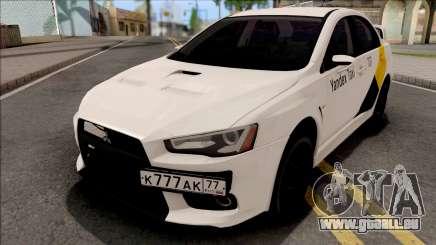 Mitsubishi Lancer Evolution 10 Yandex Taxi v2 pour GTA San Andreas