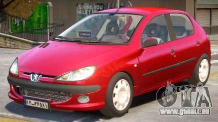 Peugeot 206 V2 pour GTA 4