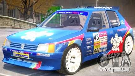 Peugeot 205 V1 PJ pour GTA 4