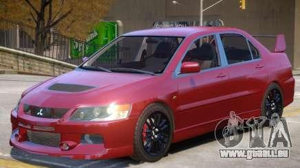 Mitsubishi Lancer Evolution IX V1.2 pour GTA 4