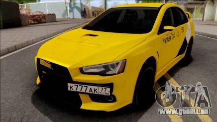 Mitsubishi Lancer Evolution 10 Yandex Taxi pour GTA San Andreas
