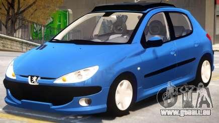 Peugeot 206 V1.2 pour GTA 4