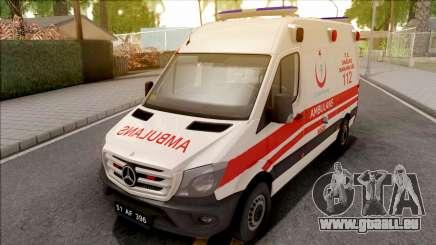 Mercedes-Benz Sprinter 2017 Turkish Ambulance pour GTA San Andreas
