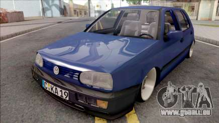 Volkswagen Golf 3 Blue für GTA San Andreas