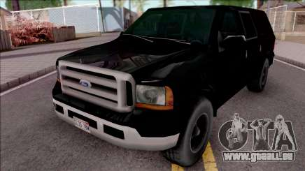 Ford Excursion SWAT Low Poly pour GTA San Andreas