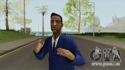 Black Male Young (Blue Suit With Tie) pour GTA San Andreas