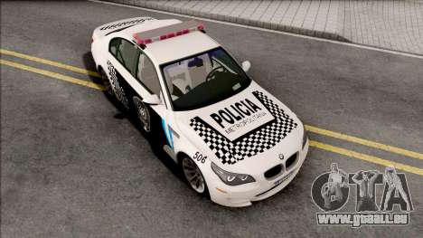BMW M5 E60 Policia Metropolitana Argentina pour GTA San Andreas