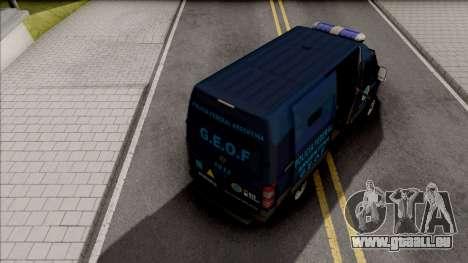 Mercedes-Benz Sprinter Policia Federal Argentina pour GTA San Andreas
