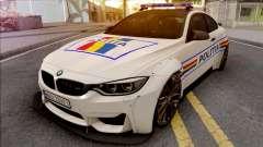BMW M4 2018 Widebody Politia Romana für GTA San Andreas