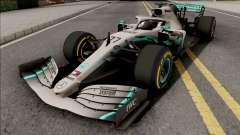 Mercedes-AMG F1 W10 2019 (C3 Tyres Yellow) pour GTA San Andreas