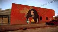 Graffiti une brune